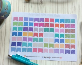84 Assorted Mini Page Flags // stickers for planners