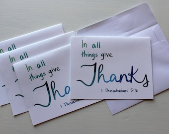 Thank You Card - Set of 4 - Blank