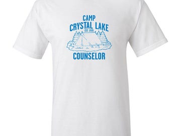 Camp Crystal Lake T Shirt Friday the 13th Shirt Jason Voorhees Scary Horror Movie Summer Camp Counselor T Shirt