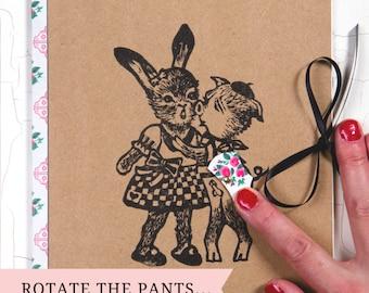 """CAHIER """"The French Lover""""/ culotte rotative/ customisé/ impression originale/ illustration décalée/ idée cadeau originale/ cadeau unique"""