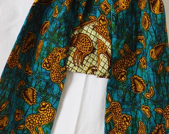 Kids harem pants, elastic waistband available in 2 sizes, 2 and 4 years old, ethnic fabric