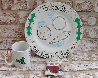 Christmas Eve Plate and Mug for Santa