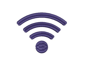 Machine Embroidery Design Instant Download - Wifi Symbol