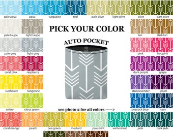 Auto Pocket - Arrows - PICK YOUR COLOR - Car Accessory Automobile Caddy