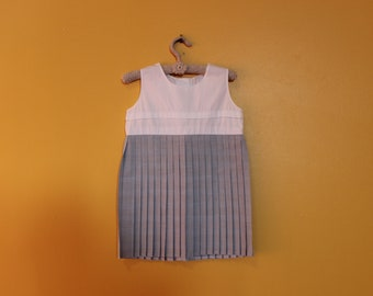 Bo Peep 60's Girls Pleated Dress 3 years, 3T, Girls Dress, Girls Vintage Dress, New Zealand, Girls Pinafore Dress *