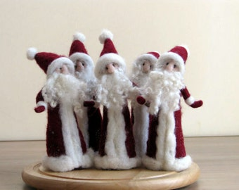 Needle felted Santa Claus  Waldorf inspired Christmas home decoration