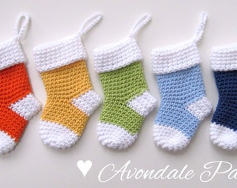 Crochet pattern christmas stocking Santa Socks PDF patt no25 uk and us terms