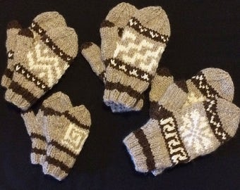 Cowichan-Inspired Mittens