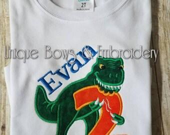 Dinosaur  Birthday Shirt ~ Personalized Birthday Shirt~ T Rex birthday shirt ~ ages 1-6