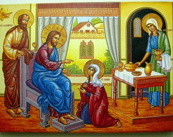 Christ with Lazarus and his sisters