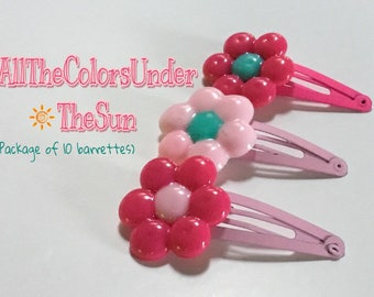 Cute flower hair clip/barrette package