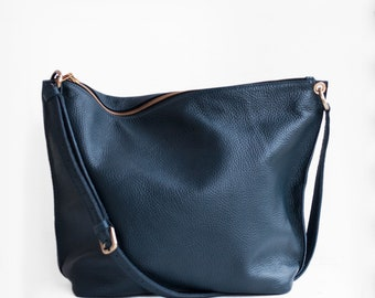 Meili Leather Crossbody Bag / Crossbody Bag / Leather Crossbody Bag / Leather Messenger Bag / Leather Slouch Bag / Slouch Bag/ Hobo Bag