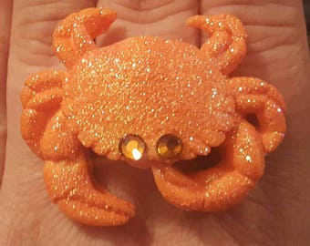 Crab, Crab ring, Crab jewelry, Sealife, Crab earrings, Crab brooch, MsFormaldehyde