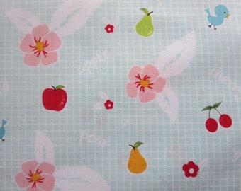 7.99 A Yard -  Sale - Sweet Orchard Fruit Aqua C5481- Riley Blake