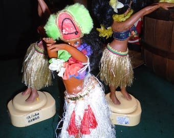 Trio of 1960's Hawaiian Hula Dolls