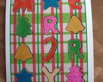 Christmas Card with Cookies - Merry Cookiemas