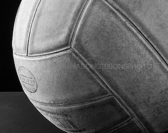 Volleyball Photography, Volleyball, Wall Art, Home Decor, Office Decor, Black and white, Still Life,