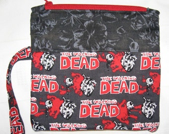 Walking Dead Custom Made Embroidered Wristlet Zombie Monogrammed
