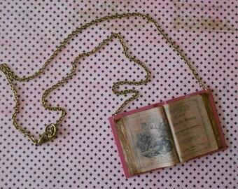 "Necklace open book ""Andersen fairytales"""