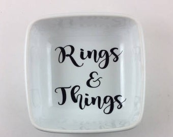 Ring Dish / Personalized Engagement Ring Dish /  Bridal shower gift / Ring holder /  Engagement Gift / Engagement Ring Holder / Jewelry dish