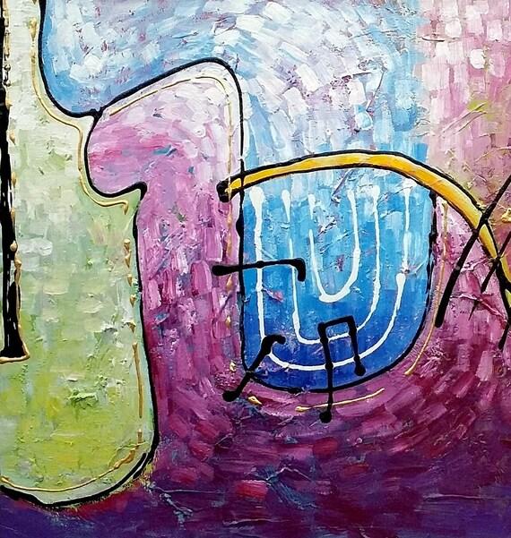 Leinwand Gemälde Violine Malerei Leinwand Kunst abstrakte