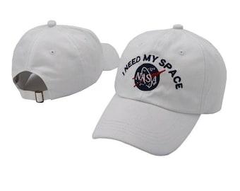 White Nasa i need my space baseball cap