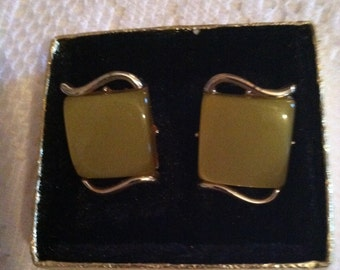 CORO Lucite Clip On Earrings