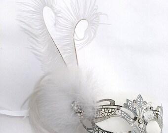Iceland Princess Silver Metal Masquerade Mask U188