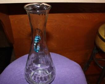 Vintage Clear Blue Tint Vase