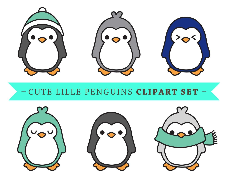 premium vector penguin clip art cute penguin clip art rh etsy com cute christmas penguin clipart