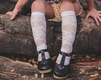 White lace knee high socks, baby knee highs, girls knee high socks, white knee high socks, leg warmers