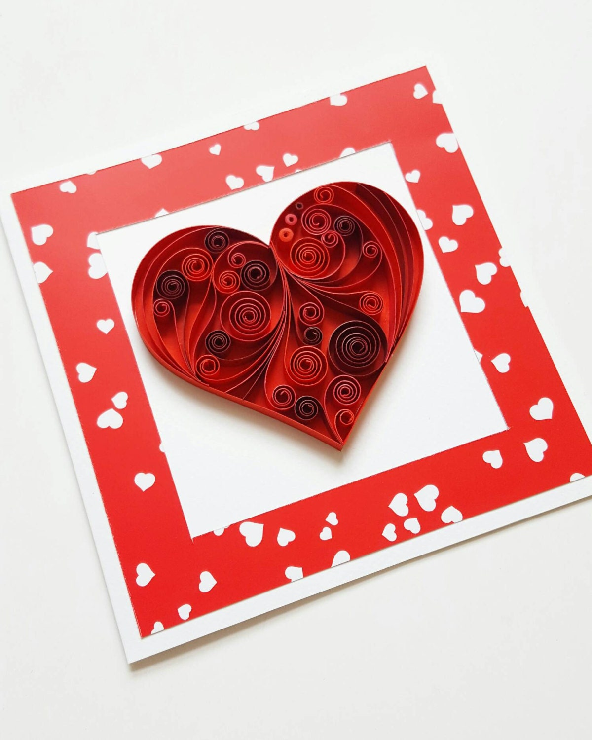 Valentine Card Love Card for Her Girlfriend 1st
