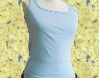90s TANK TOP Taxi brand baby blue top vintage tank top 90s fashion 90s clothing