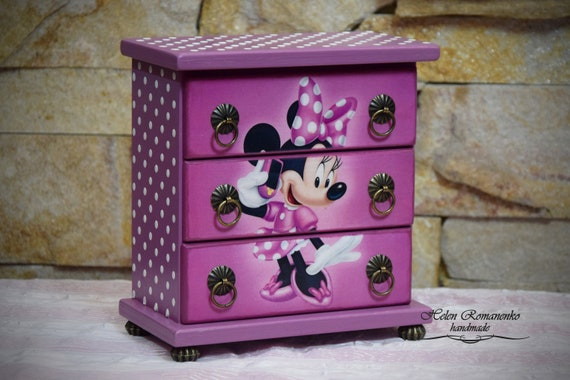 Minnie Mouse jewelry chests Mickey Mouse Box Kids jewelry