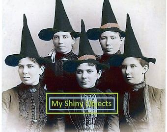 Digital Halloween Witches