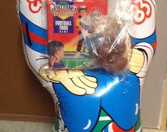 Vintage Spalding Inflatable Football Toss