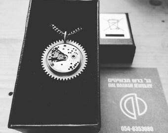 GB Cog-Steampunk jewelry-Industrial jewelry-Minimalist-Dainty-No Fuss-Basic chain for man-Grange-MJ