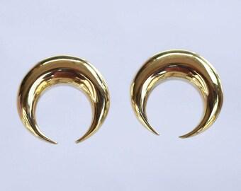 Brass ear weights, pinchers, body jewelry