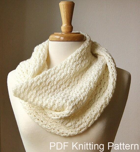 Knitting Pattern Chunky Cowl Knitting Pattern Scarf Diy