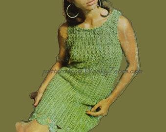 Crochet Dress Pattern Vintage PDF 274 from WonkyZebra