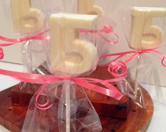 12 Chocolate Happy 15th Birthday Lollipops Birthday Party Favors Quinceanera