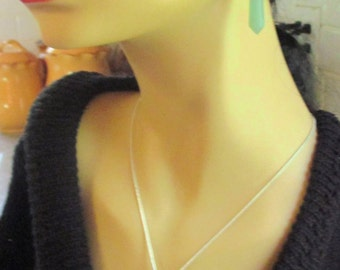 Genuine Aventurine Reiki Point Necklace and Earrings