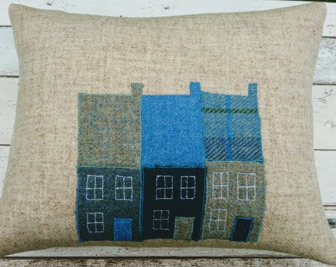 SALE Hand Crafted Harris Tweed townhouse cushion cover