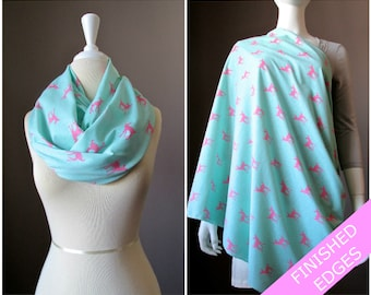 Nursing cover  scarf, nursing cover, infinity scarf, Turquoise, breastfeeding cover, nursing cover up, breastfeeding scarf, nursing clothes
