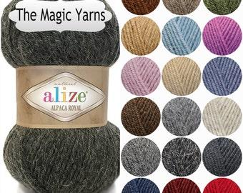 ALIZE ALPACA royal,alpaca,wool,knitting yarn,crochet yarn,turkish wool,shawl warp,DK, medium, 8ply, 13wpy