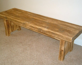 Hand Made Solid Wood Rustic Kitchen Bench 029