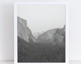 Mountain Print, Mountain Wall Decor, Black and White Prints, Modern Wall Decor, Forest Photography, Forest Poster, Landscape Wall Art.