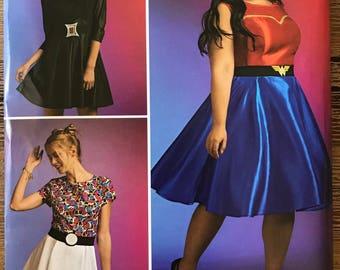 UNCUT Missesu0027 Wonder Woman Costume Pattern Simplicity 8396 Size 10-12-14-16-18-20-22-24-26-28 Superhero Halloween Plus Size Cosplay  sc 1 st  Etsy & Halloween costume women plus size | Etsy