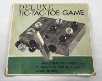 Deluxe Wooden Tic-Tac-Toe Game