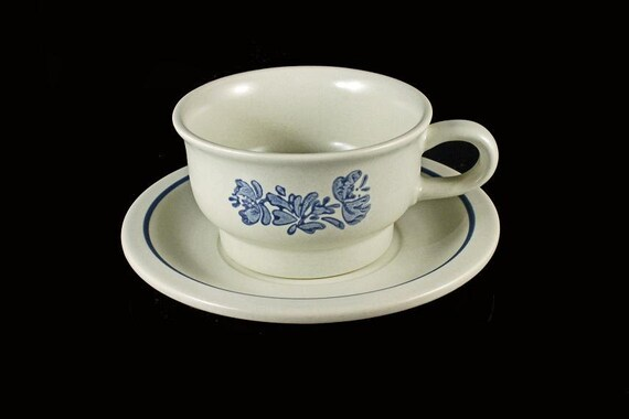 Pfaltzgraff Yorktowne Flat Cup and Saucer Set of Four